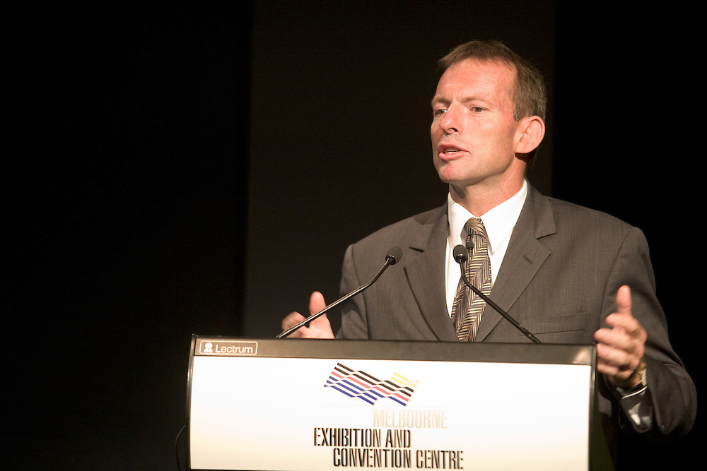 Minister for Health and Ageing, Tony Abbott, at the Diabetes in Indegenous People Forum, Melbourne, 2006