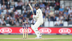 England's Sam Curran hits out against Pakistan during day two of the Second Natwest Test match at Headingley, Leeds.