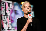 Photos of an exclusive iHeartRadio Q&A with Halsey hosted by Z100's Maxwell at the iHeartRadio Theater, NYC. October 25, 2015. Copyright © Matthew Eisman. All Rights Reserved
