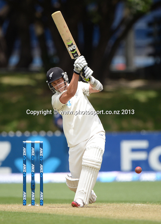 Trent Boult batting on Day 2 of the 2nd cricket test match of the ANZ Test Series. New Zealand Black Caps v West Indies at The Basin Reserve in Wellington. Thursday 12 December 2013. Mandatory Photo Credit: Andrew Cornaga www.Photosport.co.nz