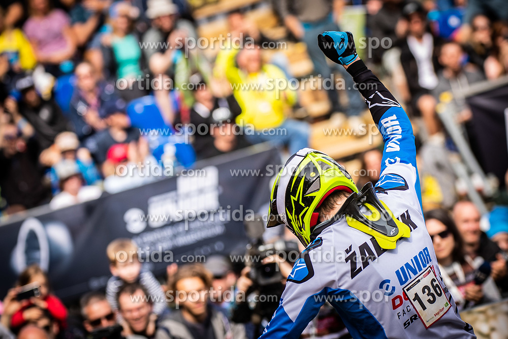 Jure Zabjek of Slovenia during Mercedes-Benz UCI Mountain Bike World Cup competition final day in Bike Park Pohorje, Maribor on 28th of April, 2019, Slovenia.  . Photo by Grega Valancic / Sportida