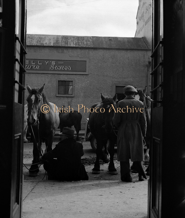 Ballinasloe Horse Fair, Co. Galway.25/04/1957