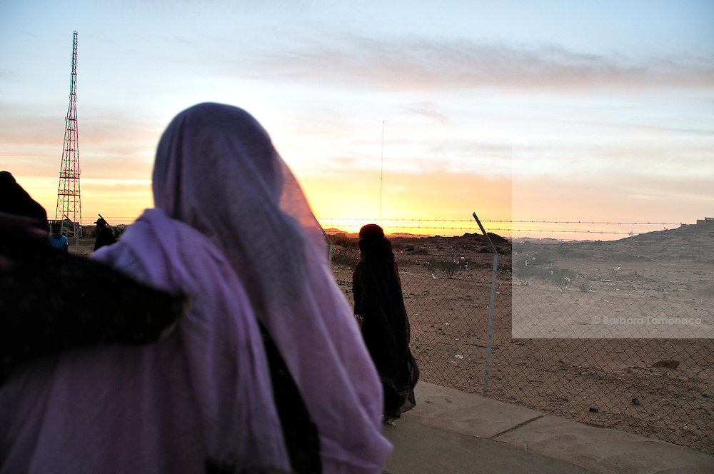"Women wearing ""niqab"" in Tamanrasset, Algeria 2011."
