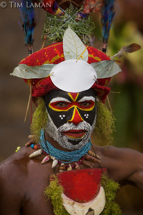 Western Highlands Province man.  Mount Hagen, Western Highlands Province, Papua New Guinea.