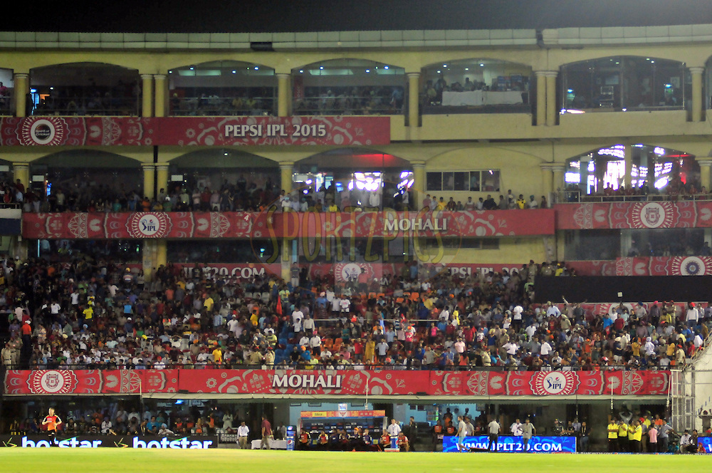 GV during match 27 of the Pepsi IPL 2015 (Indian Premier League) between The Kings XI Punjab and The Sunrisers Hyderabad held at the Punjab Cricket Association Stadium in Mohali, India on the 27th April 2015.<br /> <br /> Photo by:  Arjun Panwar / SPORTZPICS / IPL