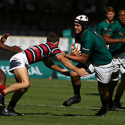 DURBAN, SOUTH AFRICA - APRIL 18: Marco Palvie of Glenwood on attack during the 2015 Mutual & Federal Premier Interschools match between Glenwood High School and Maritzburg College at Growthpoint Kings Park on April 18, 2015 in Durban, South Africa. (Photo by Steve Haag/Gallo Images)