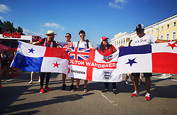 England and Panama fans In Nizhny Novgorod fan fest at the 2018 FIFA World Cup in Russia ahead of the match on Sunday.