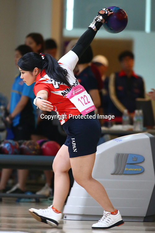Misaki Mukotani (JPN), <br /> SEPTEMBER 24, 2014 - Bowling : <br /> Women's Singles Squad B<br /> at Anyang Hogye Gymnasium <br /> during the 2014 Incheon Asian Games in Incheon, South Korea. <br /> (Photo by Shingo Ito/AFLO SPORT)