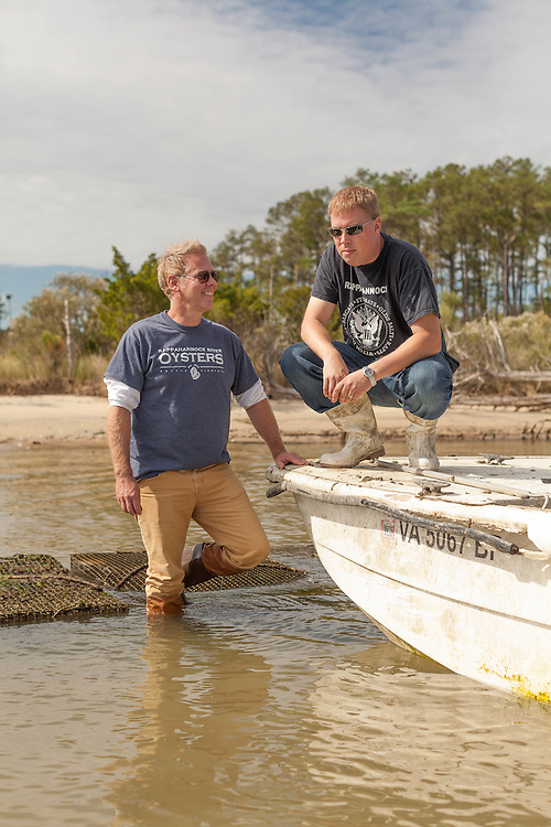 Photoshoot at Rappahannock River Oysters in Topping, Virginia