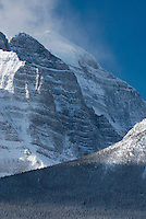 The rugged slopes of Mount Temple, Banff National Park Alberta Canada