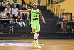 Marie Shante Evans of Slovenia during friendly basketball match between Women National teams of Slovenia and Croatia before FIBA Eurobasket Women 2017 in Prague, on June 1, 2017 in Celje, Slovenia. Photo by Vid Ponikvar / Sportida