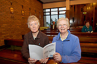 Sisters of Mercy Theresa Moore and Marcella O'Brien in St Oliver Plunkett's parish Renmore for the Diocese of Galaway /Trocaire Mass celebrating 40 years of Trocaire's work . Photo:Andrew Downes photography.
