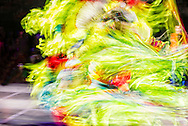 Gathering of Nations Pow Wow, Albuquerque, New Mexico, Fancy Dancer, blurred motion