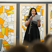 "Professor Dora Ramirez on the ""DACAmented Stories: DREAMers in Idaho"" panel in the Owyhee, Storyfort, Treefort,  Allison Corona photo"