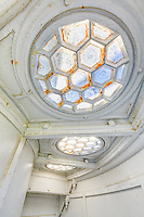 Honeycomb skylight pattern at Currituck Beach Lighthouse in Carola North Carolina.