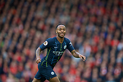 LIVERPOOL, ENGLAND - Sunday, October 7, 2018: Manchester City's Raheem Sterling during the FA Premier League match between Liverpool FC and Manchester City FC at Anfield. (Pic by David Rawcliffe/Propaganda)