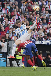 March 9, 2019 - Madrid, Madrid, Spain - Atletico de Madrid's Thomas Teye and CD Leganes's Ruben Perez during La Liga match between Atletico de Madrid and CD Leganes at Wanda Metropolitano stadium in Madrid. (Credit Image: © Legan P. Mace/SOPA Images via ZUMA Wire)