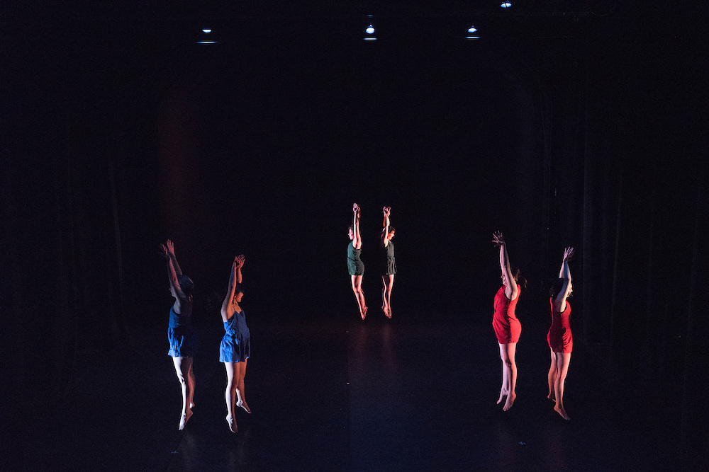 Baltimore, Maryland - April 05, 2016: Members of Baltimore based modern dance company The Collective perform pieces of their annual concert The Art of Movement at the Theatre Project in Baltimore, Md., Tuesday April 5, 2016.<br /> <br /> <br /> CREDIT: Matt Roth