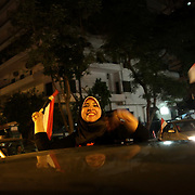 Egyptians  celebrate the departure of ex president Morsi in the early hours of the morning - Cairo 04/07/2013
