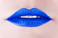 Background of a woman's blue lips