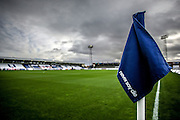 during the Sky Bet League 2 match between Hartlepool United and Leyton Orient at Victoria Park, Hartlepool, England on 15 November 2015. Photo by Simon Davies.