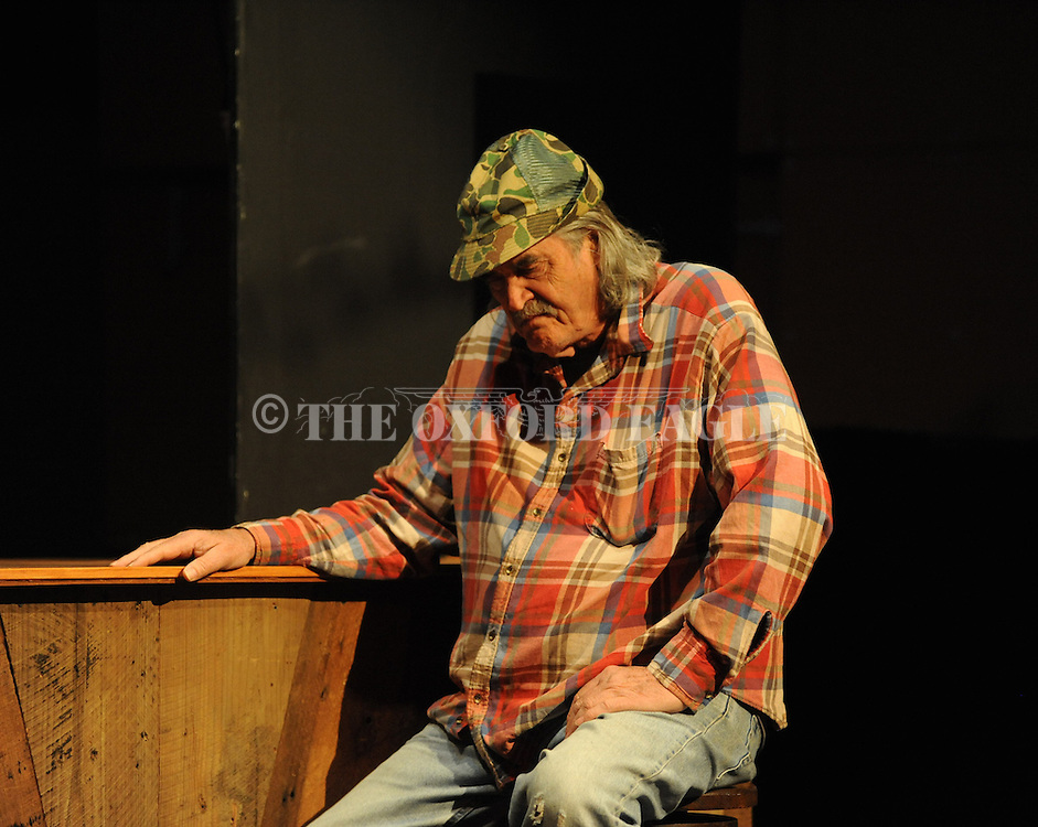 "Johnny McPhail during Rehearsal for Tyler Keith's ""Outlaw Biker"" at the Powerhouse in Oxford, Miss. on Sunday, October 28, 2012. The production will be performed on Halloween at 8 p.m."