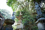The first temple Ryōzen-ji (霊山寺) of the Shikoku Pilgrimage, 88 temples associated with the Buddhist monk Kūkai (Kōbō Daishi) on the island of Shikoku, Naruto,Tokushima Prefecture, Japan
