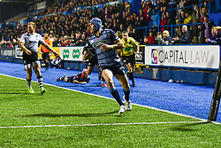 Tom James of Cardiff Blues scores his sides fifth try - Mandatory by-line: Craig Thomas/JMP - 04/11/2017 - RUGBY - BT Sport Cardiff Arms Park - Cardiff, Wales - Cardiff Blues v Zebre Rugby Club - Guinness Pro 14