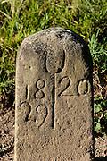 historischer Grenzstein, Großkochberg, Thüringen, Deutschland | hist. border stone, Großkochberg, Thuringia, Germany