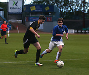 St Johns RC High School (blue) v Grove Academy (black) - Under 15s senior cup final sponsored by Dundee FC Supporters Association<br /> <br />  - &copy; David Young - www.davidyoungphoto.co.uk - email: davidyoungphoto@gmail.com