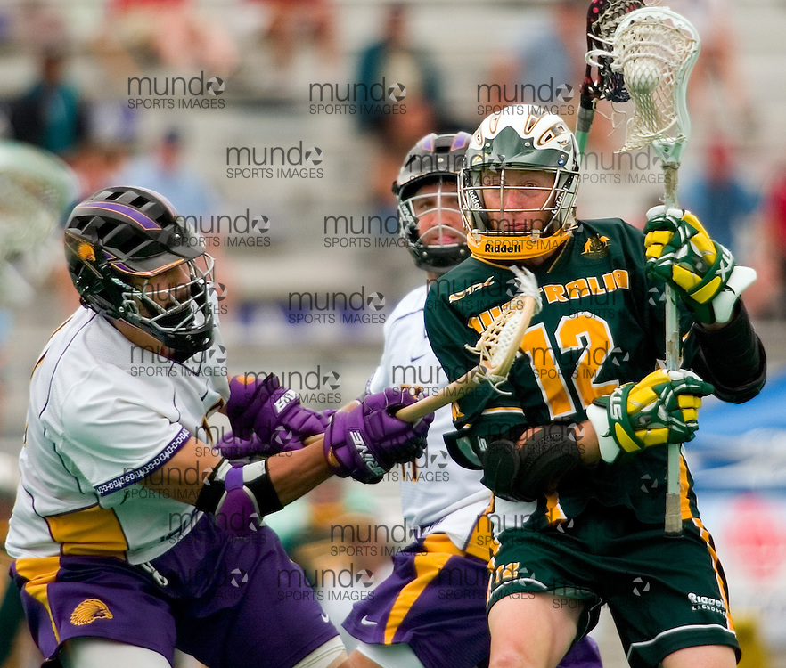 London, Ontario ---06/7/22---  as Australia defeated the Iroquois Nation at the World Lacrosse Championships In London, Ontario July 20, 2006..GEOFF ROBINS/ Canadian Press<br />