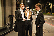 ROBIN THOMAS; OLLIE PULMER; PETER TAYLOR, The Royal Caledonian Ball 2013. The Great Room, Grosvenor House. Park lane. London. 3 May 2013.