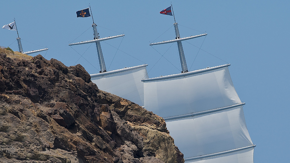 St Barths, St Barths Bucket Regatta, 28th March 2009, Race 2, Maltese Falcon, 289' Perini Navi.