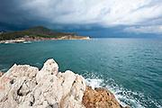 Sardegna, Italy. Costa del sud, spiaggia presso Chia nel comune di Domus De Maria