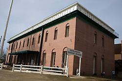 Exterior of brick building containing the Sacramento History Museum, Sacramento, California