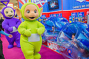 The Teletubies celebrate their 20th anniversary - The London Toy Fair opens at Olympia exhibition centre. Organised by the British Toy and Hobby Association it is the only dedicated toy, game and hobby trade exhibition in the UK. It runs for three days, with more than 240 exhibiting companies ranging from the large internationals to the new start up companies.