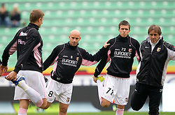 Giulio Migliaccio and Josip Ilicic of Palermo during football match between Udinese Calcio and Palermo in 8th Round of Italian Seria A league, on October 24, 2010 at Stadium Friuli, Udine, Italy.  Udinese defeated Palermo 2 - 1. (Photo By Vid Ponikvar / Sportida.com)