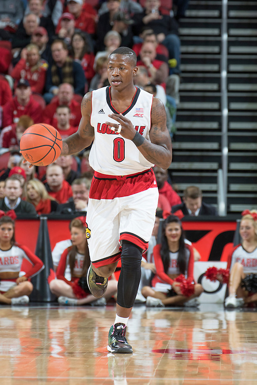 Louisville guard Terry Rozier. <br /> <br /> The University of Louisville hosted the Notre Dame, Wednesday, March 04, 2015 at Yum Center in Louisville. <br /> <br /> Photo by Jonathan Palmer