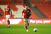 Bailey Wright (5) of Bristol City on the attack during the EFL Sky Bet Championship match between Bristol City and Bolton Wanderers at Ashton Gate, Bristol, England on 26 September 2017. Photo by Graham Hunt.