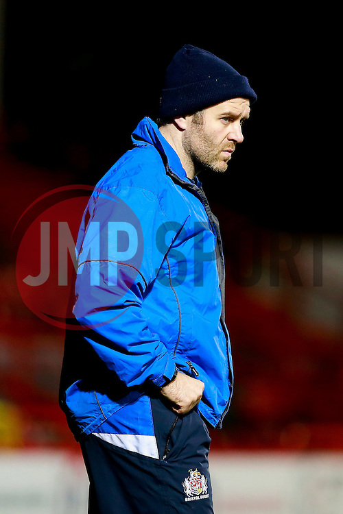 Bristol Rugby coach Mark Irish looks on - Mandatory byline: Rogan Thomson/JMP - 22/01/2016 - RUGBY UNION - Ashton Gate Stadium - Bristol, England - Bristol Rugby v Ulster A - British & Irish Cup.