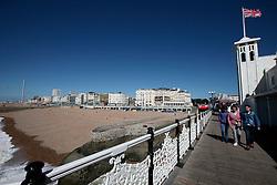 UK ENGLAND BRIGHTON 8SEP16 - View of Brighton sea  front promenade from Brighton Pier.<br /> <br /> jre/Photo by Jiri Rezac<br /> <br /> &copy; Jiri Rezac 2016