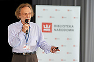 Warsaw, Poland - 2017 April 07: Marek Pilch - Ambassador of Healthy Lifestyle - Senior Voice (Glos Seniora) speaks during The Day of Health - science conference in the National Library on April 07, 2017 in Warsaw, Poland.<br /> <br /> Mandatory credit:<br /> Photo by © © Adam Nurkiewicz / Mediasport / Mediasport<br /> <br /> Picture also available in RAW (NEF) or TIFF format on special request.<br /> <br /> Any editorial, commercial or promotional use requires written permission from the author of image.<br /> <br /> Adam Nurkiewicz declares that he has no rights to the image of people at the photographs of his authorship.