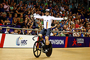 Men Keirin, Stefan Botticher (Germany) gold medal, during the Track Cycling European Championships Glasgow 2018, at Sir Chris Hoy Velodrome, in Glasgow, Great Britain, Day 6, on August 7, 2018 - Photo luca Bettini / BettiniPhoto / ProSportsImages / DPPI<br /> - Restriction / Netherlands out, Belgium out, Spain out, Italy out -