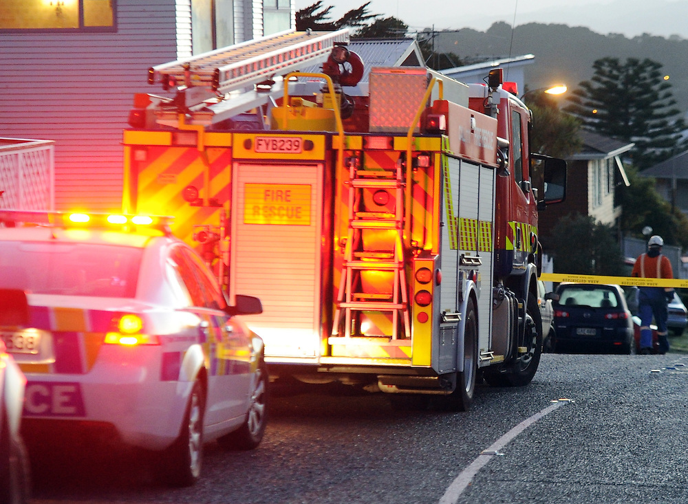 Police and Fire vehicles, Wellington, Saturday, June 01, 2013. Credit:SNPA / Ross Setford