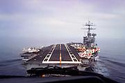 S-3 copilot view landing on Nimitz