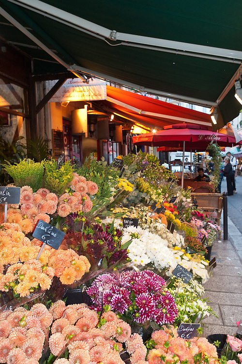 A flower shop brightens the narrow lanes that thread St-Germain-des-Pres.