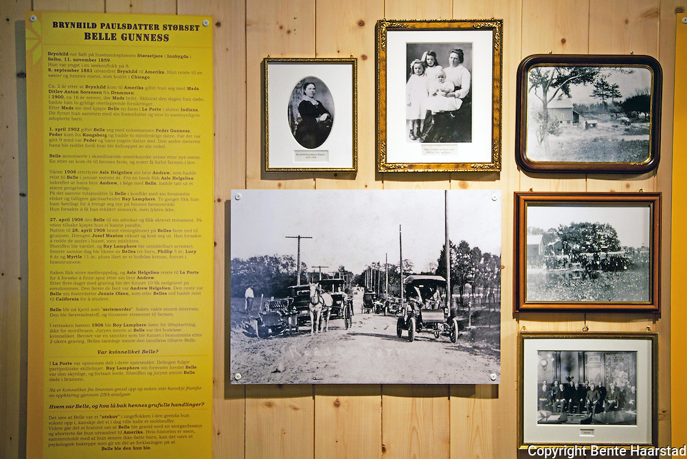 Belle Gunness is almost a secret in Selbu (4000 inhabitants). It is only a privat museum, Granby Gard, that have a small exhibition mentioning Belle.