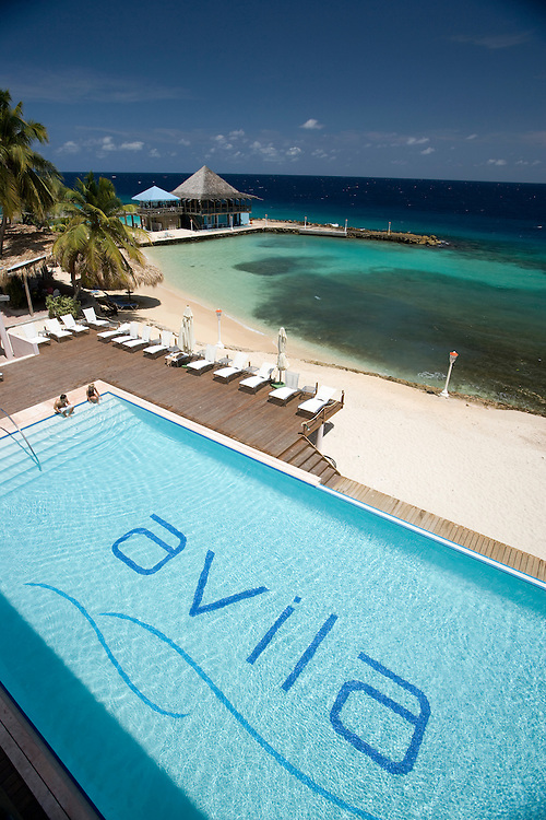 Swimming pool at Avila Hotel, Curacao, Netherland Antilles