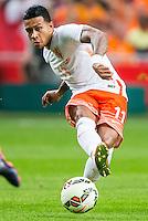 AMSTERDAM - Nederland - USA , Amsterdam ArenA , Voetbal , oefeninterland , 05-06-2015 ,  Nederlands elftal speler Memphis Depay