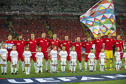 October 14, 2018 - Chorzow, Poland - Polish national football team during the UEFA Nations League A match between Poland and Italy at Silesian Stadium in Chorzow, Poland on October 14, 2018  (Credit Image: © Andrew Surma/NurPhoto via ZUMA Press)
